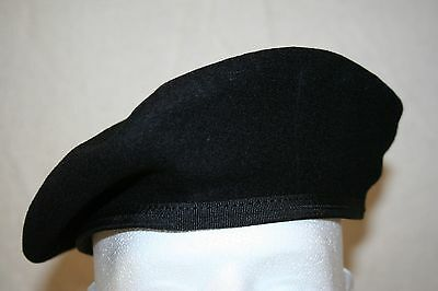 MILITARY STYLE BLACK WOOL BERET WITH NYLON SWEATBAND NEW starship troopers larp