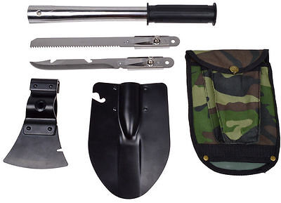Folding Shovel 6-in-1 Camping Shovel & Sheath, Multi Purpose Tool - AUSSIE STOCK