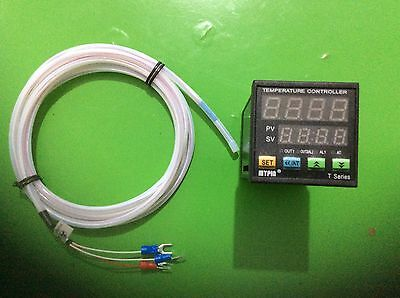 Digital F/C PID Temperature Controller Thermostat TA4-SNR+2M Waterproof  PT100