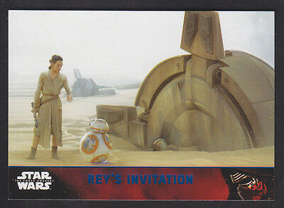 Topps Star Wars - The Force Awakens - Blue Parallel Card # 80