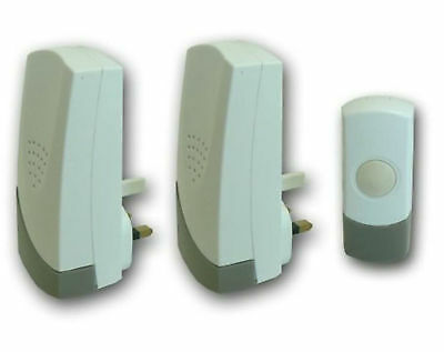Single / TWIN / Battery/ Wireless Chime Set Doorbell Chime main plug in MAINS UK
