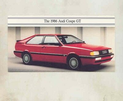1986 Audi GT Coupe Brochure my5475