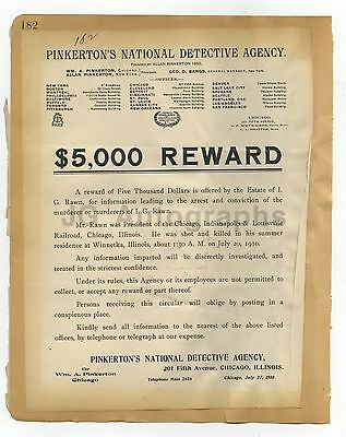 Wanted Posters - 2 Vintage Wanted Posters - Chicago, Washington, D.C. - 1910