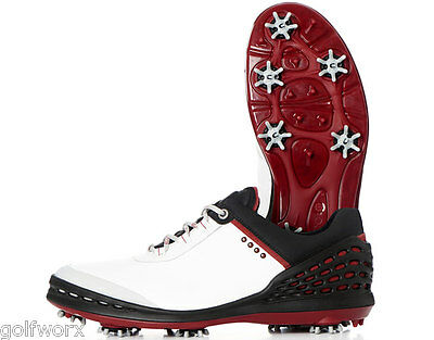 New 2016 Ecco Cage Golf Shoes White/black (Free Shoe Kit)