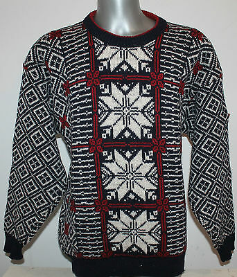 Mens SONDRE SWIX Norway 100% WOOL Sweater Nordic Vintage Dale Of. Jumper Size L