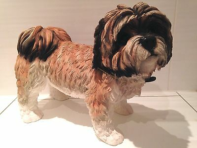 Extra Large Life Size Shih Tzu Ornament Figure Figurine Model Gift Brown/White