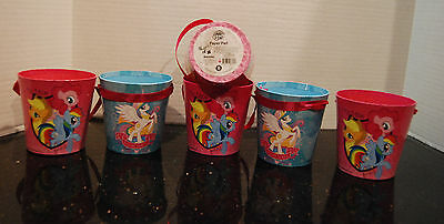 My Little Pony Paperboard Bucket Easter Lot of 6 FIM NWT Party Favors