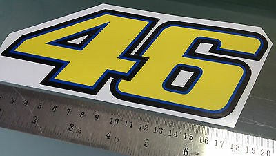 Valentino Rossi Number 46 Sticker / Decal - 200mm x 80mm