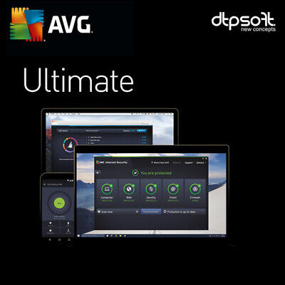 AVG Ultimate 2019 2 Jahre ohne PC Begrenzung / auch Mac +Android / 2018 DE EU