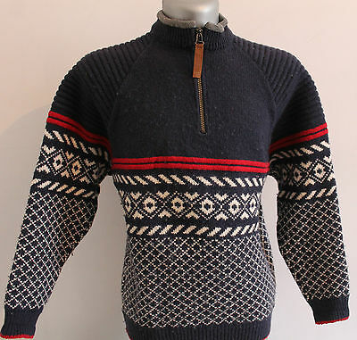 Mens IVANHOE Winter SWEDEN 100% WOOL Dale Of  Nordic Jumper Pullover Sweater S