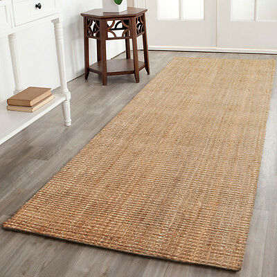 NATURAL JUTE HALL RUNNER FLOOR RUG FUNKY RETRO 80X300 cm 32/12