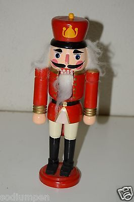 "CUTE Vintage Wooden 9.5"" Red Coat? Royal? Soldier Nutcracker Christmas Gift"