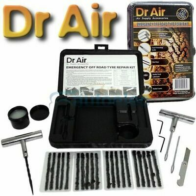 Dr Air Tyre Puncture Repair Kit 27 Piece Tire 4X4 4Wd Off Road Plugs Tubeless