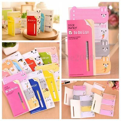 Lovely Sticker Memo Marker Bookmark Marker Index Pad Tab Sticky Notes