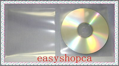 1000 Premium 120 microns Clear CPP Plastic CD DVD Sleeve Bag without Flap , NF