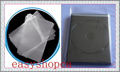1000 pcs Standard DVD CD Case Wrapper OPP Bags, Resealable Clear Plastic Sleeves