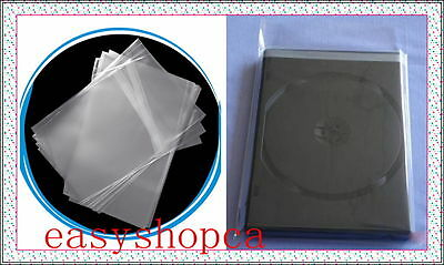 100 pcs Standard DVD CD Case Wrapper OPP Bags, Resealable Clear Plastic Sleeves