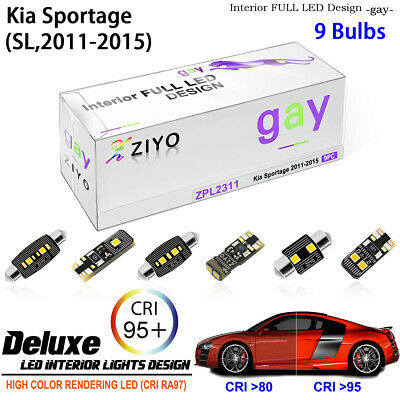 7 Bulbs LED Interior Light Kit Xenon White Lamps For Kia Sportage (SL 2011-2016)