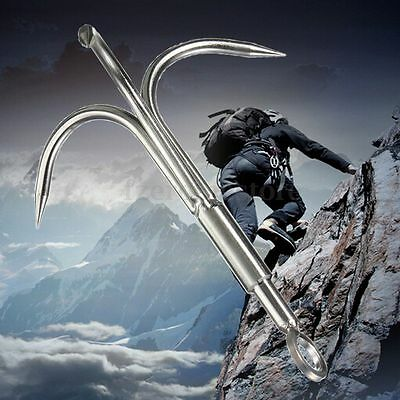 Outdoor Steel Climbing Claws Anchor Mountaineering Carabiner Grappling Hook