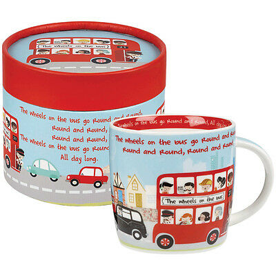 Little Rhymes The Wheels On The Bus Fine China Spice Mug in Hatbox