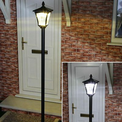 2.1M Traditional Solar Security Aluminium Outdoor Garden Led Lamp Post Light