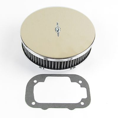 Good quality chrome Weber DGAV DGAS pancake type air filter 45mm      EMPI2981