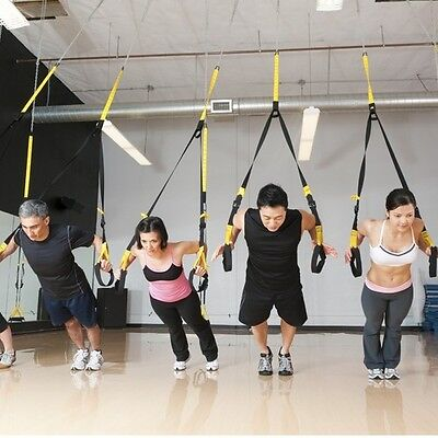 Suspension Trainer TRX Fitness Ejercicio Músculo Correa Gym Casa Puerta
