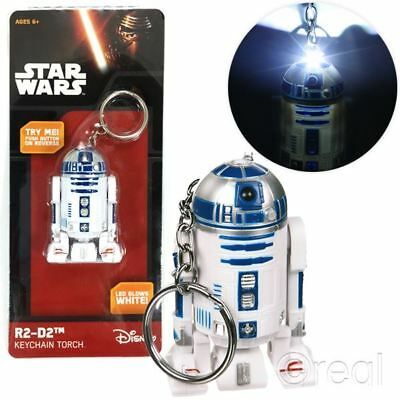 New Star Wars R2-D2 Keyring Torch Keychain LED Official Licensed