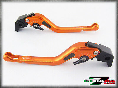 Suzuki GSF650 BANDIT 2007 Strada 7 Long Carbon Fiber Inlay Levers Orange