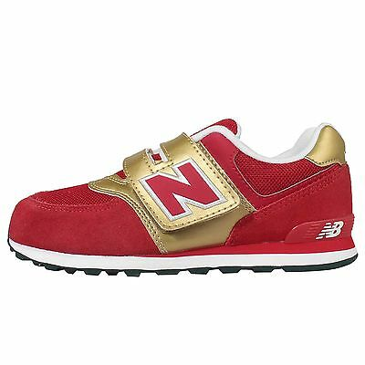 New Balance KV574C7Y W Red Gold Kids Youth Running Shoes Sneakers KV574C7YW