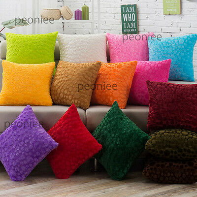 14x color modern DOT comfy plush cushion pillow cover case bed sofa home gift u