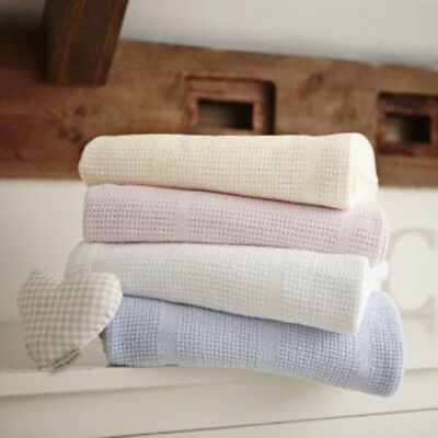 Clair de Lune Cellular 100% Cotton Blanket