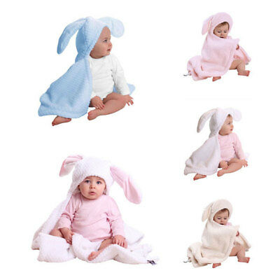 Clair de Lune Honeycomb Bunny Ears Hooded Blanket