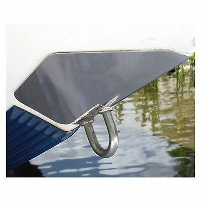 """SS Marine BowShield Bow Guard Medium 7.5""""x9"""" Stainless Steel Boat-Trailer MD"""