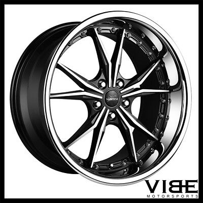 19 Staggered Hyper Dark Gtr Vortex Wheels Rims Fits 2001 2006 E46
