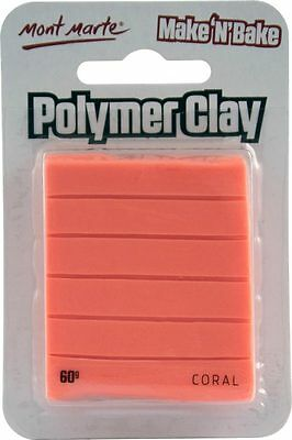 Mont Marte Make N Bake Polymer Clay 60g - Coral