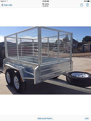 NEW 8x5  GALVANISED TANDEM TRAILER 8X5   LADDER RACKS OFFROAD tyres AVAILABLE