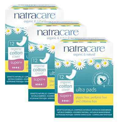 Triple Pack Natracare Sanitary Towels, Ultra Pads, WINGED Liners, SUPER PLUS