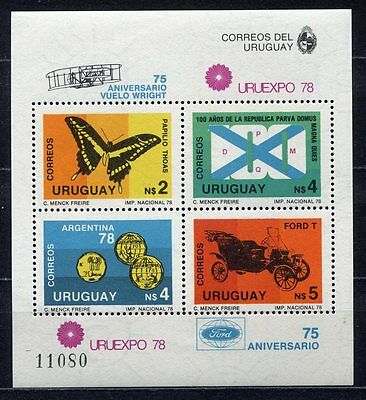 s5483) URUGUAY 1978 MNH** World Cup Football - Coppa del Mondo Calcio S/S