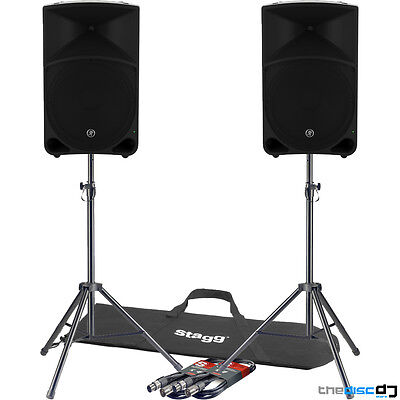 Mackie Thump 15 Active PA Speakers (Pair) + Free Tripod Stands & Leads