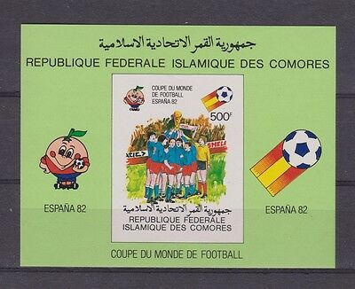 s5603) COMORES 1982 MNH** World Cup Football - CM Calcio S/S IMPERF