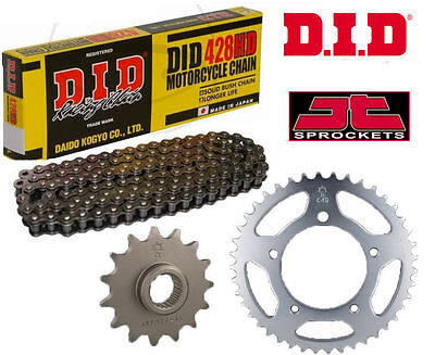 Honda XL125 J 1988 Heavy Duty DID Motorcycle Chain and Sprocket Kit