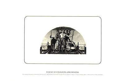 2000 B. E. P. Souvenir Card - Engineering and Construction - Steel Workers  B241