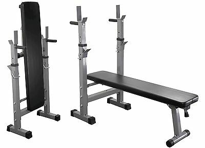 Weight Bench Dip Station Folding & Adjustable Training Incline & Flat Bench
