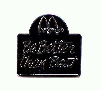 Mcdonalds Collector Hat Lapel Pin Be Better Than Best