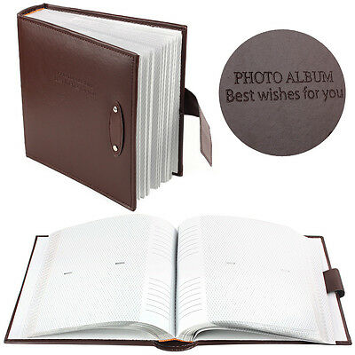Large Brown Slip in Photo Album With Memory Area Holds 200 Pcs 6 X 4'' Photos