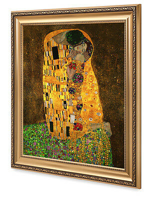 DecorArts-The Kiss,by Gustav Klimt Giclee Print& Museum Quality Framed
