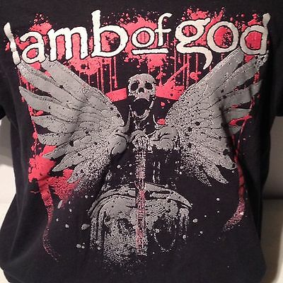 Lamb of God Heavy Metal Rock Band Tour T Shirt XL Hells Skeleton Skull Angel