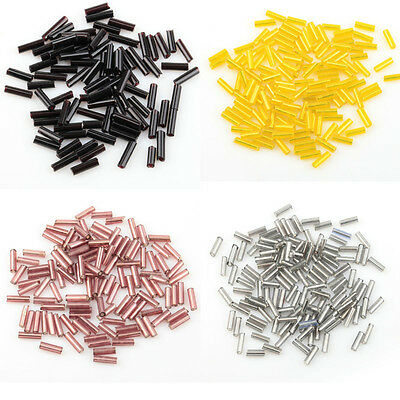 Wholesale 1000 pcs Tube Czech Glass Spacer Beads 8x2mm For Jewelry Making DIY