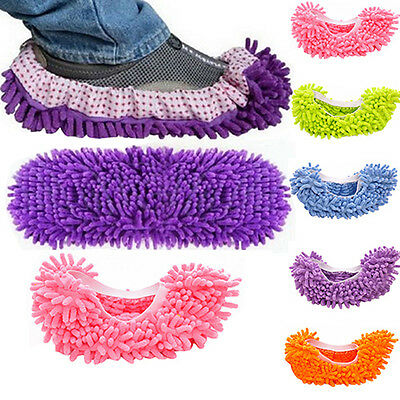 1Pcs Dust Floor Cleaning Slippers Multifunction Shoes Mop House Clean Shoe Cover